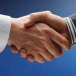 corporate handshake concept symbol as used in digital marketing design
