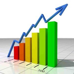 Graph concept symbol relating to financial services, wealth management, asset management
